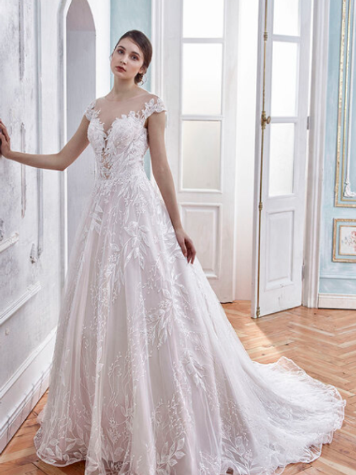 Mignon Manley OJ1758 Stunning Embellished Lace  Bridal Gown