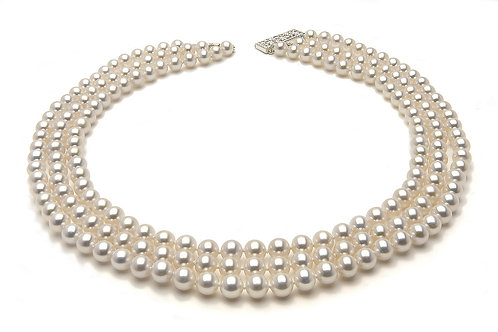 Absolutely Gorgeous 7.5 x 8mm White Freshwater Pearl Necklace