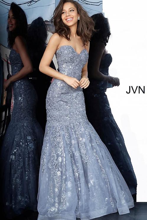 JVN00874 Grey Sweetheart Neckline Mermaid Prom Dress