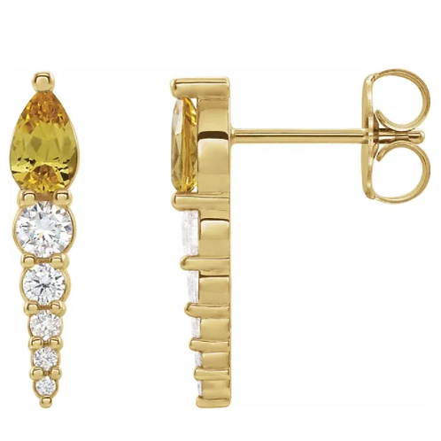Platinum Chatham® Created Alexandrite & 1/4 CTW Diamond Earrings