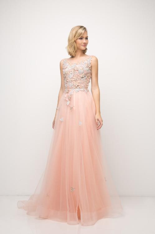 Flower Applique Gown