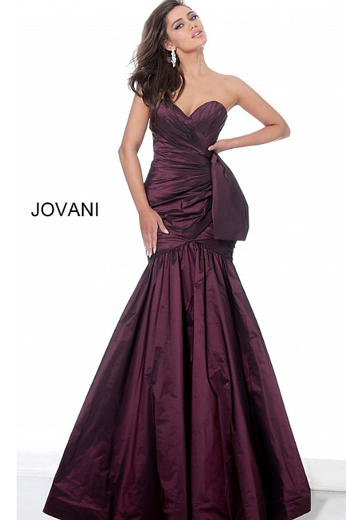 Jovani 00403 Burgundy Strapless Mermaid Evening/Prom Dress