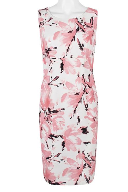 Evan Picone Crepe Floral Print Dress