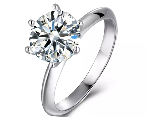 3.0ct Moissanite Diamond 925 Sterling Silver Ring