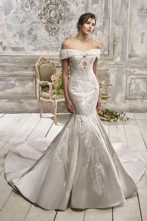 """Mignon Manley Design """"Marjorie"""" Satin Bridal Gown"""