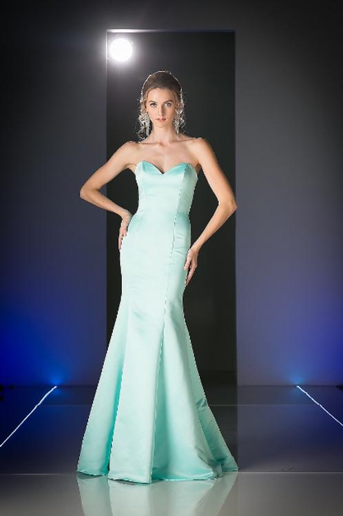 Classic Satin Sheath Bridesmaid Gown