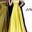 Thumbnail: JVN1716 Yellow Satin Strapless A line Prom Dress