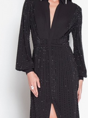 erani Couture Embellished Crepe Gown