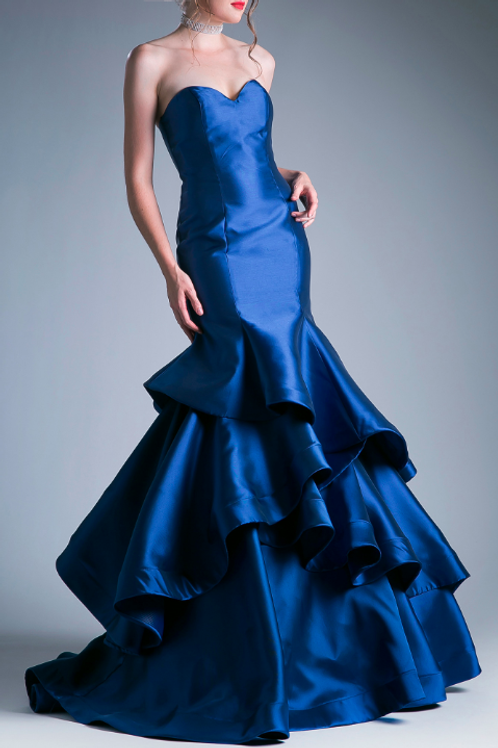 EVENING GOWN - NAVY ANDREA LEO GOWN