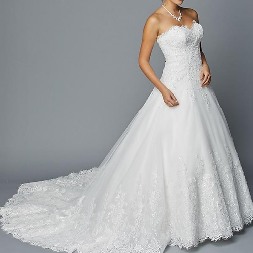 Beautiful Floor Length A-Line Bridal Gown