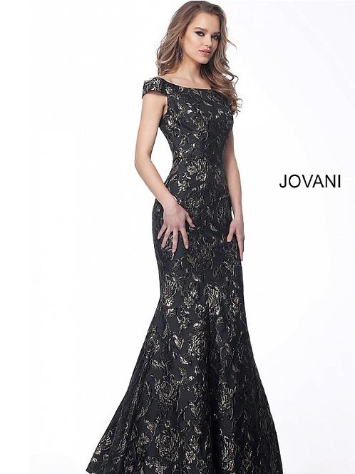 Black Gold Off the Shoulder Mermaid Evening Dress 62581