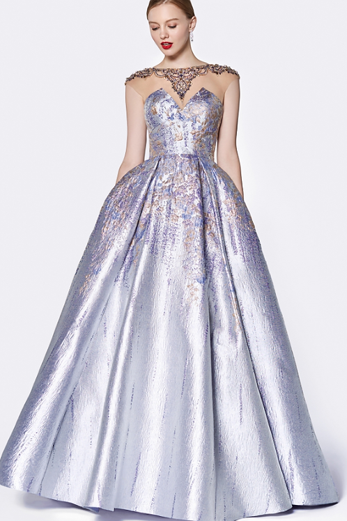 Strapless Sweetheart Duchess Sation Gown W Beaded details