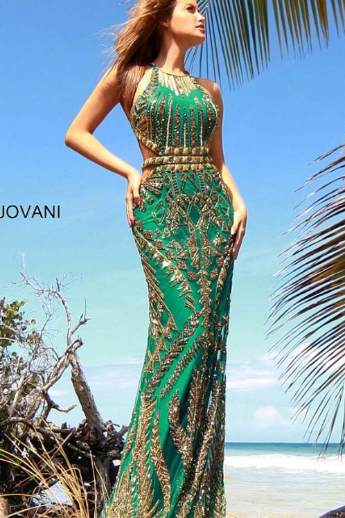 Crew Neck Beaded Jovani Prom Dress 2720
