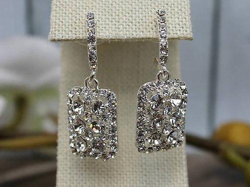 EARRINGS, Silver Swarovski Crystal Earrings,