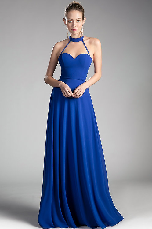 Elegant Long Gown With Open Back