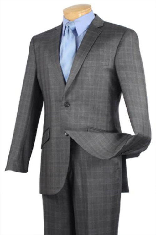 Men's Single Breasted 2 Buttons Slim Fit Suit