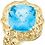 Thumbnail: 14K Yellow Swiss Blue Topaz Sculptural-Inspired Ring