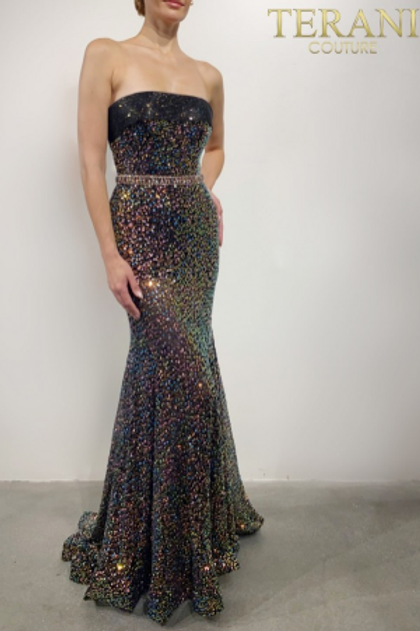 Terani Couture Crystal Embellished Gown