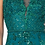 Thumbnail: Bateau Cap Sleeves A Line Gown Embroidery Crystal & Sequin Gown