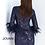 Thumbnail: Navy Long Sleeve Embellished Cocktail Dress 63351