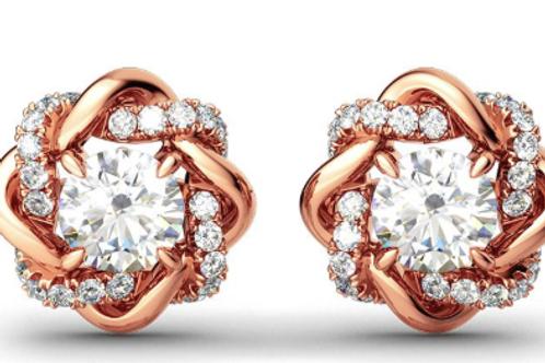 Mignon Manley White Sapphire Stud Earrings