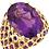 Thumbnail: 14K Yellow Amethyst Nest Design Ring