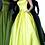 Thumbnail: Jovani 68993 Yellow Strapless Pleated Skirt Satin Gown