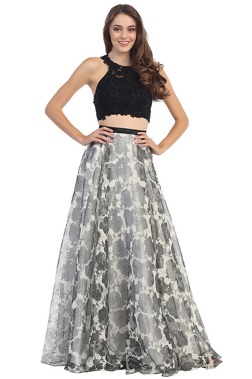Two Piece Set Evening Dress