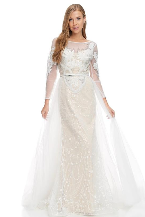 Long Sleeves Sheath-A-Line-Gown