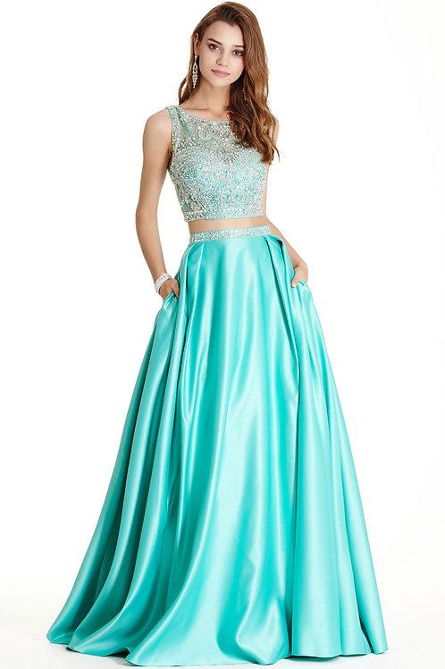 Two Piece Set Prom Dress