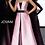 Thumbnail: Pink Black Strapless Long Overskirt Jovani Jumpsuit 1799
