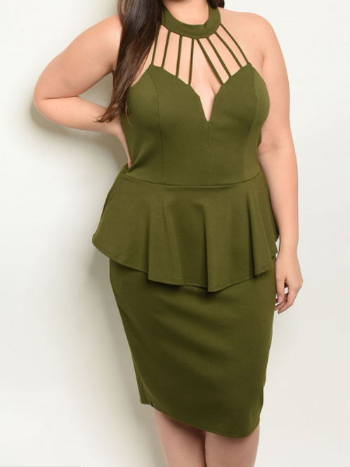 Olive Plus Size Dress