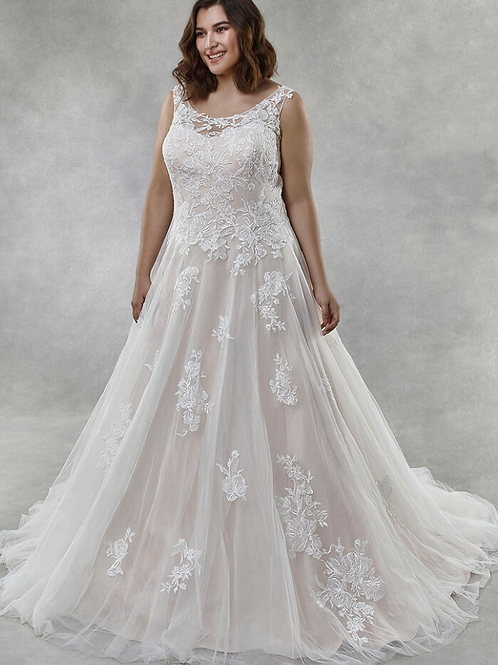Illusion Sweetheart Strap Sleeves Embellished Lace Bridal Gown