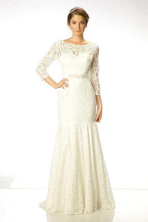 Beautiful Lace Long Wedding Gown