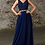 Thumbnail: A-line Chiffon Gown With Embellished Lace bodice and belt.