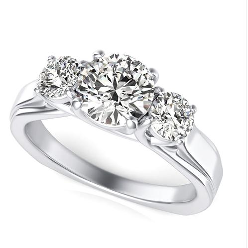 Three Stone 1.5 CT Diamond Ring