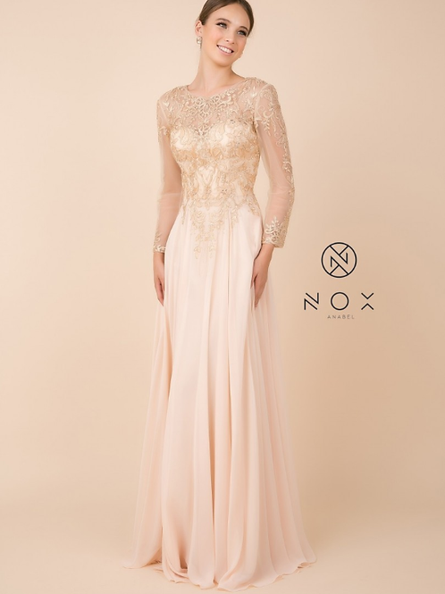 Chiffon Embroidered Top Gown