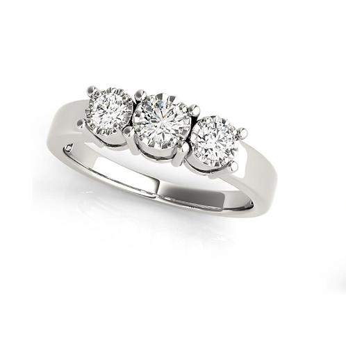 Stunning Three Stone Round Diamond Ring , 3 Carat Diamond Ring