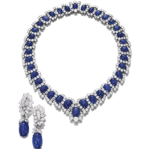 DesignerCabochonSapphire Necklace