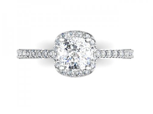 Halo Diamond Ring 1 Carat Halo Ring