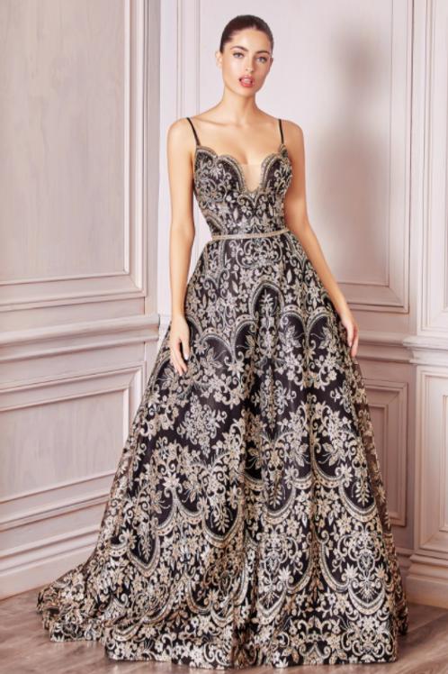 Cinderella Divine  A-line Glitter Gown