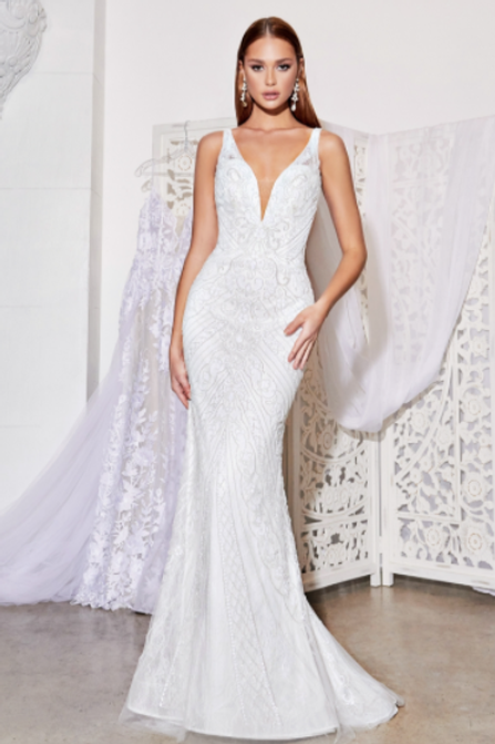 Cinderella Divine Fitted Beaded Bridal Gown