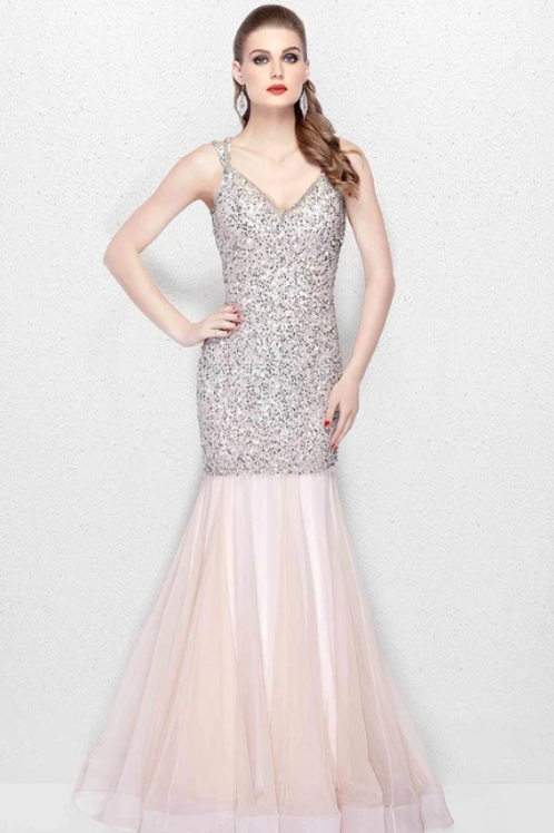 Glittering Accents Gown