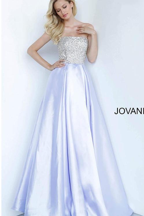 JOVANI White Strapless A Line Long Girls Dress K66689