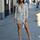 Thumbnail: Champagne Long Sleeve Glitz Dress