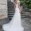 Thumbnail: Lace Applique Tulle Sheath Bridal Gown