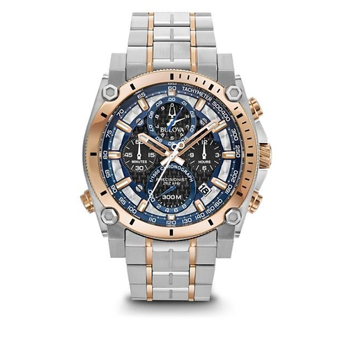BULOVA Men's Precisionist Chronograph Stainless Steel Black Dial