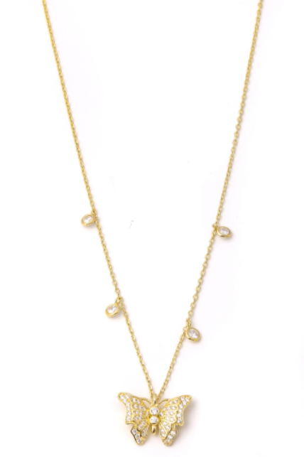 The Perfect Gold Over Silver Butterfly Necklace