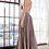 Thumbnail: A-line Pleated Dress w/ Beaded Belt & Gathered Bodice