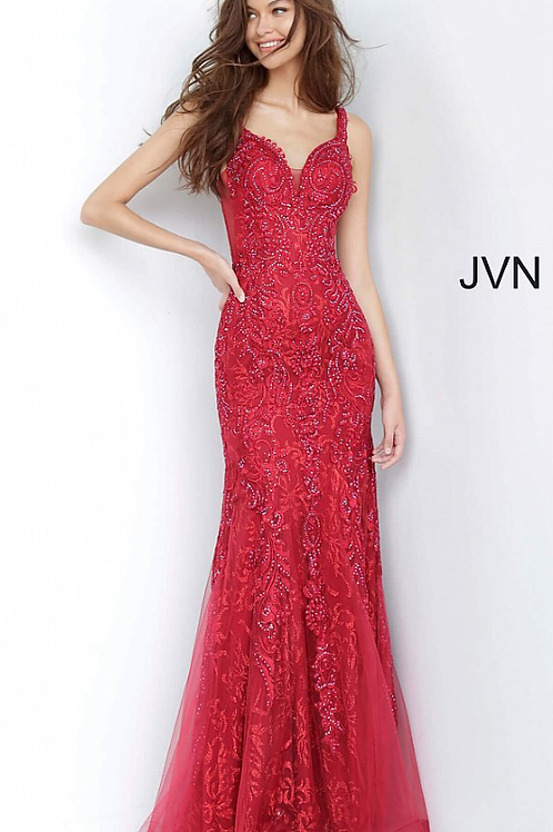 JVN02319 Embellished Sweetheart Neckline Prom Dress